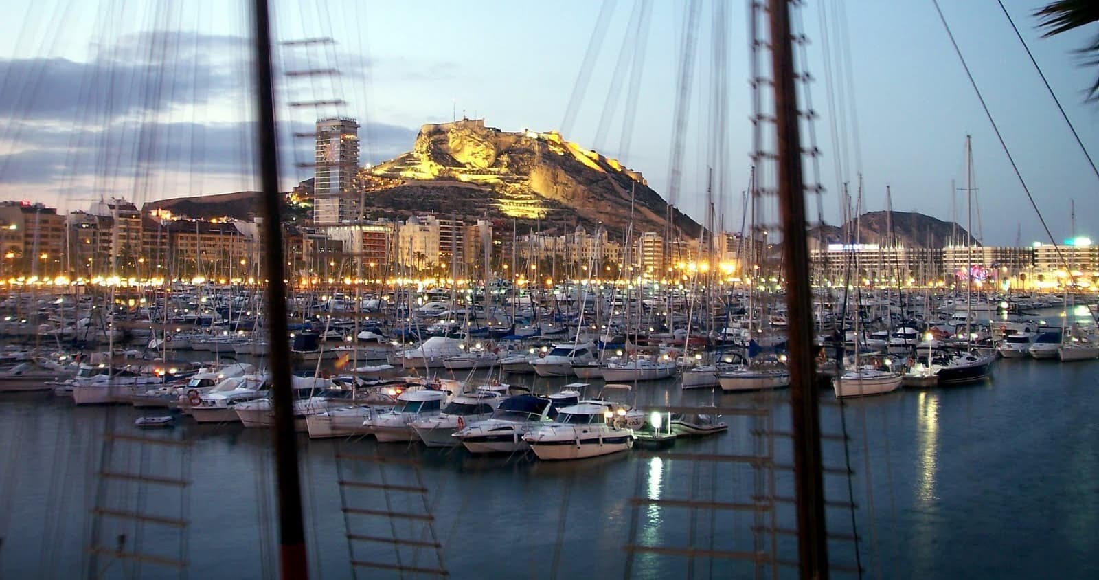 View of the port of Alicante from the venue